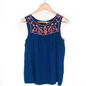 Old navy blue embroidered sleeveless